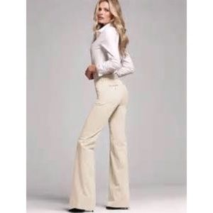 VS Christie Fit Long Off White Flare Pants, size 4